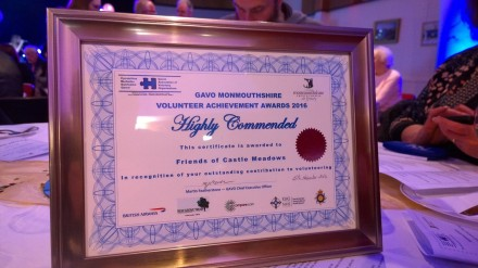 Our Highly Commended certificate